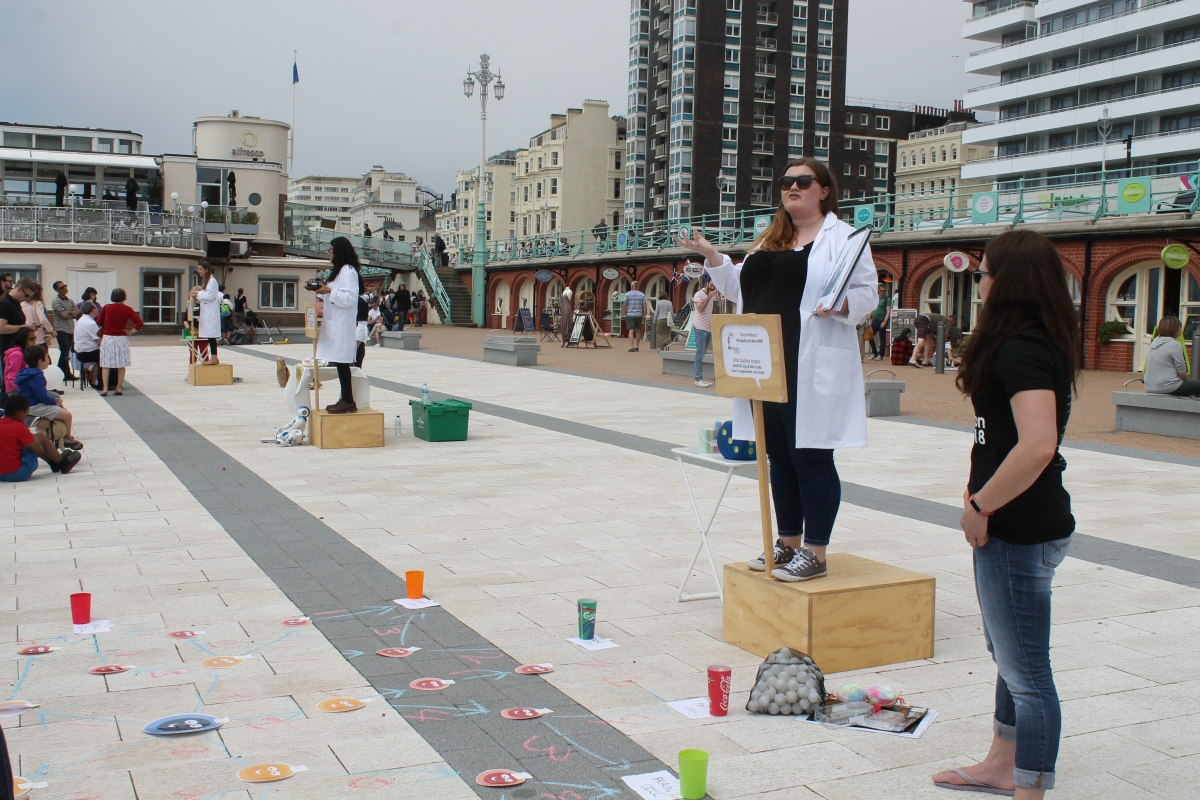 What is it like to do Soapbox Science? Brighton 2018